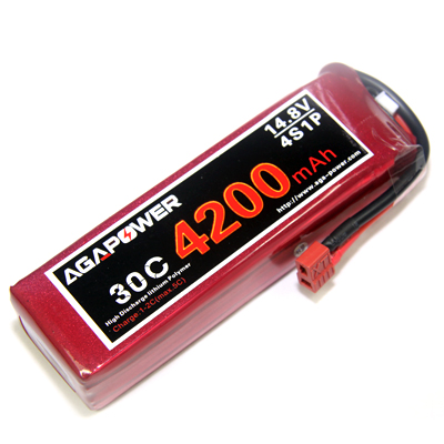 4200mAh 14.8V 30C battery for helicopters