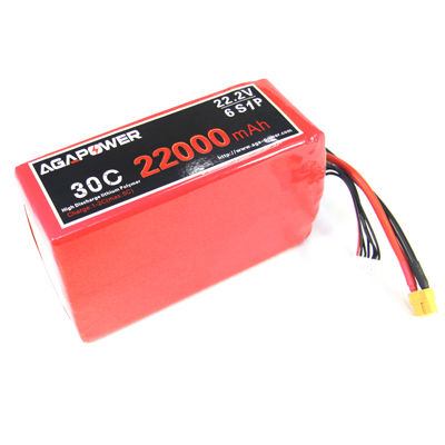 22000mAh 30C 22.2V for UAV and FPV
