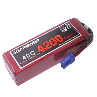 AGA Power 4200mah 40C 6S rc heli battery