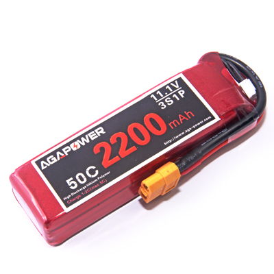 AGA Power 2200mAh 11.1v 50C for 450 size helicopters