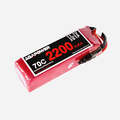AGA2200/70C-3S 11.1V high rate pack for Helicopters