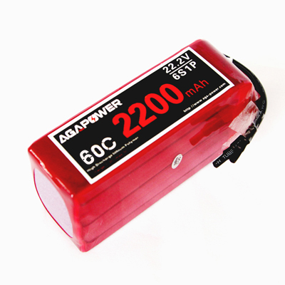 AGA2200/70C-6S 22.2V high rate pack for Helicopters