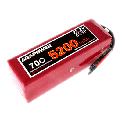 AGA5200/70C-6S 22.2V high rate pack for Helicopters