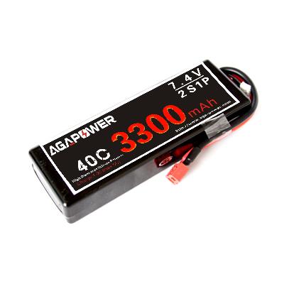 RC car lipo battery 3300mah 40c 7.4v