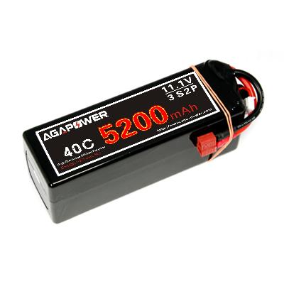 3s 5200mah 40c 2p lipo battery