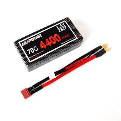 AGA4400/70C-2S2P 7.4V Shorty Pack