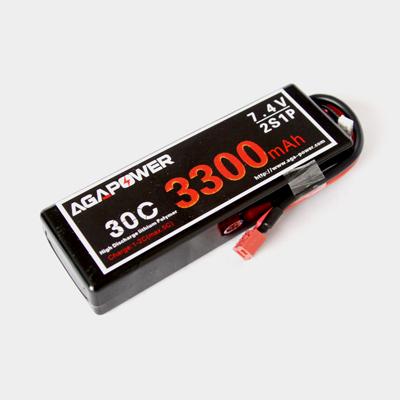 3300mah 7.4v 30c aga power battery