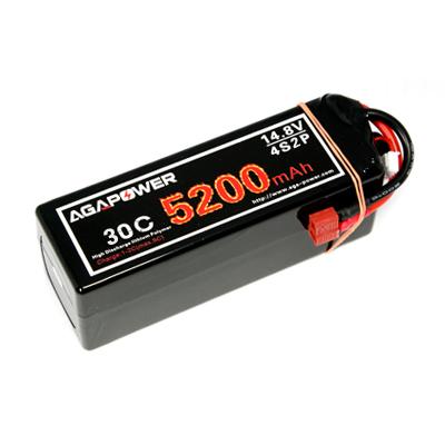 14.8v 5200mah 2p 30c lipo battery