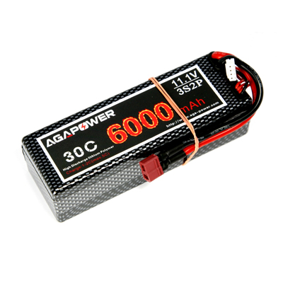6000mAh 11.1v 2p 30c RC car lipo battery