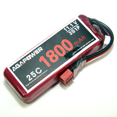 AGA Power 1800mAh 11.1V 25C Lipo battery
