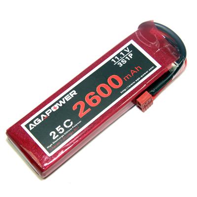 AGA Power 2600mAh 3S 25C Lipo battery Pack