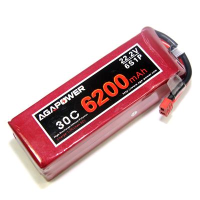 AGA Power 6200 30C 22.2 V for UAV and FPV