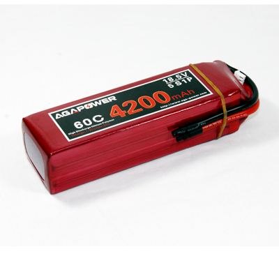 high rate AGA Power 4200 60C 18.5V battery for helis