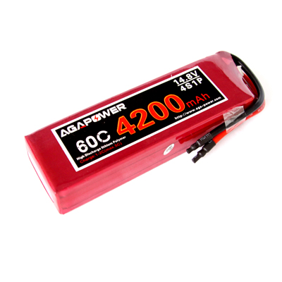 high rate AGA Power 4200 60C 14.8V battery for helis